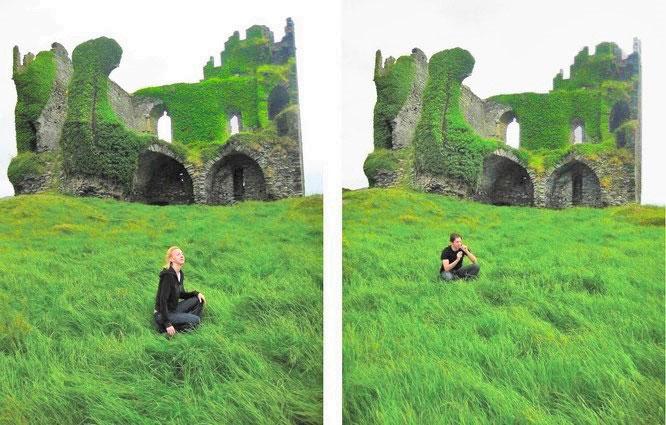 Düsteres Ballycarbery Castle...
