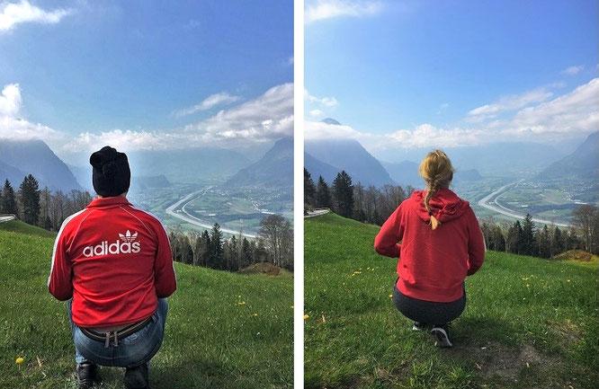 Himmelwärts in Richtung Malbun. Auf halbem Weg (und saftiger Wiese) streift Mona-Lizas Blick hinab in das pittoreske Rheintal. Ein Dank an LI_Travel (Liechtenstein Marketing/Ferien- und Freizeitdestination FL), die dieses Foto auf Twitter geliked haben!