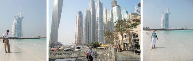 Burj el Arab & Canyan Tower, VAE / Dubai (25° 8′ 28″ N, 55° 11′ 8″ E)...