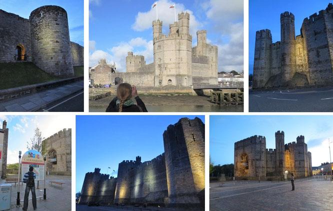 Weltkulturerbe Caernarfon Castle, Gwynedd (53° 8′ 21.68″ N, 4° 16′ 36.8″ W) - architektonisch eine der genialsten Burganlagen, die ich je besucht habe (alleine in Großbritannien über 350 verschiedene Einrichtungen)...