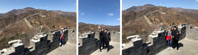 ...walking on the Chinese Wall - with Mona-Liza and Lu (40° 26′ 16.88″ N, 116° 33′ 42.89″ E)!
