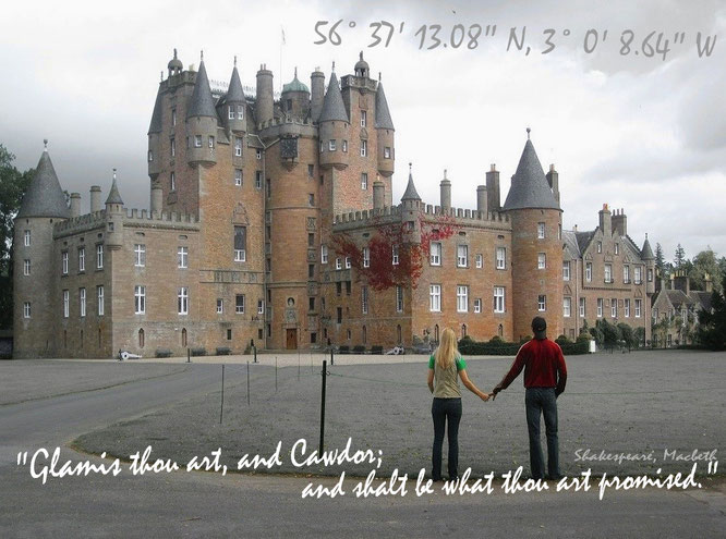"Das planetare Gespensterschloss der Gespensterschlösser: Glamis Castle, Glamis/Angus. ""What are these, So wither'd, and so wild in their attire; That look not like the inhabitants o' th' earth, And yet are on 't?"" William Shakespeare, Macbeth..."