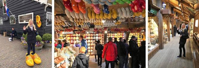 Traditionelle Holzschuhe werden in der Schuhabteilung fabriziert. Angeschlossen ist ein kleines Museum sowie - selbstverständlich - ein größerer Souvenirshop...