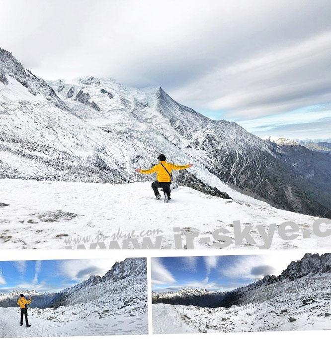 """""""The highest #Peak in #Europe."""" Näher ist beinahe unmöglich: Gipfel des Mont Blanc (4.810 Meter)..."""