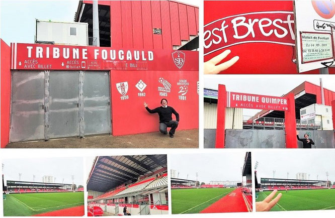I´ve crossed the french border and visited the League 1 Match Stade Brest - Stade Rennes: Stade Francis-Le Blé, Brest, France (48° 24′ 10″ N, 4° 27′ 41″ W)...