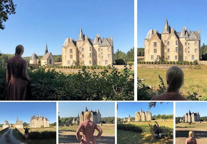 Château Bourgon, Belgeard, Commune de Montourtier, Département de la Mayenne, Pays de la Loire (48° 13′ 23″ N, 0° 33′ 40″ E)...