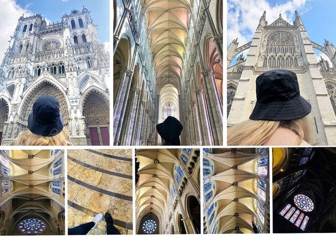 Das Vorbild: die größte Kathedrale Frankreichs, Maßstab beinahe sämtlicher, nachfolgender Kathedralen (inkl. des Kölner Doms): Kathedrale von Amiens (49° 53′ 42.45″ N, 2° 18′ 7.63″ E)...