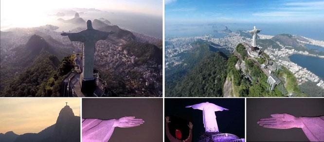 Cristo Redentor (Achtung: Art-Déco!), Corcovado/Rio de Janeiro, Brasilien - 22° 57′ 5.71″ S, 43° 12′ 38.69″ W...