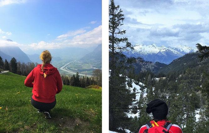 """""""This #MountainRange (Rätikon) is bordered by 3 alpine countries: #Austria #Switzerland & #Liechtenstein (r.) & Malbun/Vaduz/Liechtenstein (l.) #climbing."""""""
