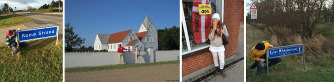 "55° 8′ N, 8° 31′ O und Römö Kirke ""Sankt Clemens"" (rechts) 55°6′46.65″N 8°32′33.47″E"