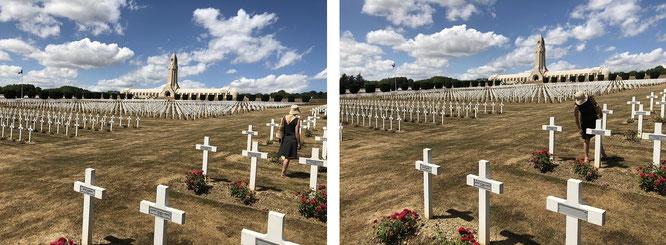 """""""Hölle von Verdun"""":  Im Hintergrund das Beinhaus von Douaumont mit den physischen Überresten von über 130.000 gefallenen Soldaten..."""