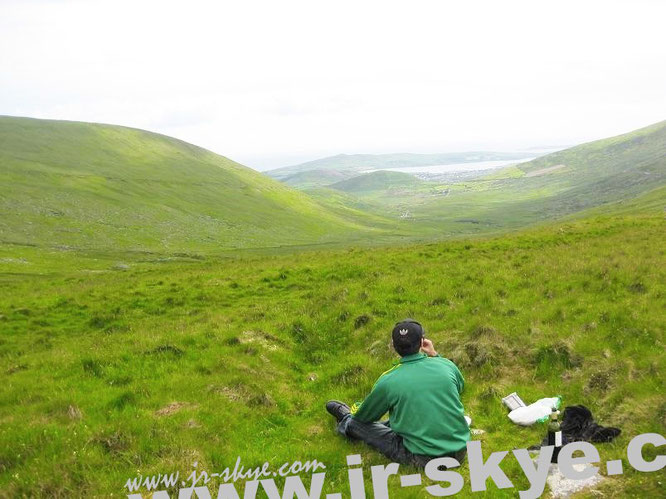 """Drinking red wine at CONOR PASS (An Chonair) #Dingle #Kerry #WildAtlanticWay (52° 10′ 54.94″ N, 10° 12′ 26.33″ W)…"