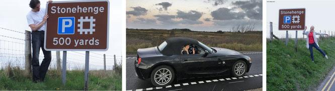 Diesmal nicht mit einem meiner Roadster unterwegs (z.B. Z4, Mitte), dennoch haben wir auch heute Stonehenge erreicht. In Wales werdet Ihr übrigens (gerade in den Monaten Mai bis September) verstärkte Sportwagen-Frequenz vorfinden...