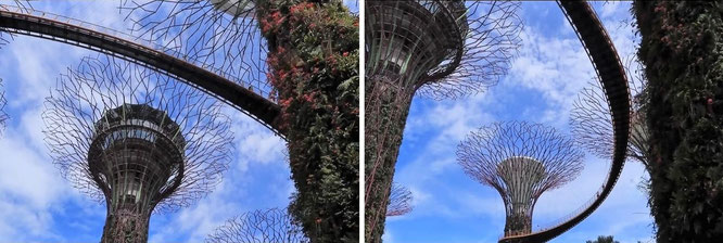 """Gardens by the Bay, Singapore (1° 16′ 59.95″ N, 103° 51′ 54.97″ E)."""