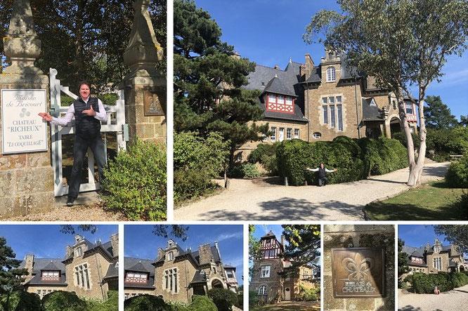 Château Richeux, Cancale, Département Ille-et-Vilaine (Maisons de Bricourt, 48° 40′ 36″ N, 1° 51′ 7″ W)...
