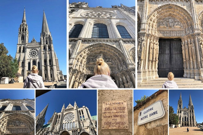 """Die Erste: Chartres, ein neuer Stil! Kathedrale von Chartres, geniales Urbild bzw. """"Das Original"""" (48° 26′ 50″ N, 1° 29′ 16″ E)..."""
