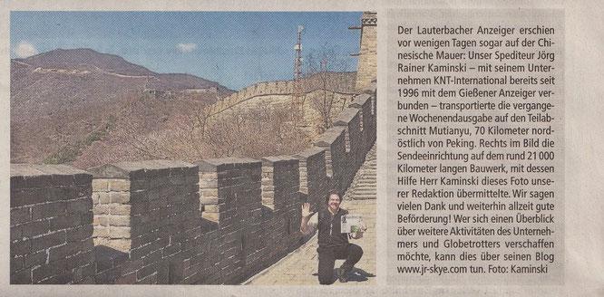 Gießener- bzw. Lauterbacher Anzeiger - 05/2019. Großer Dank zurück!