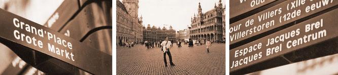 Meine exakten Koordinaten: UNESCO-Weltkulturerbe Grote Markt/Grand-Place/Großer Markt (niederl., franz., dt.), Brüssel (50° 50′ 48″ N, 4° 21′ 8″ E)...