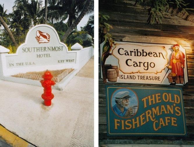 Eines meiner Hotels auf den Florida-Keys, hier das südlichste Hotel der (kontinentalen) USA