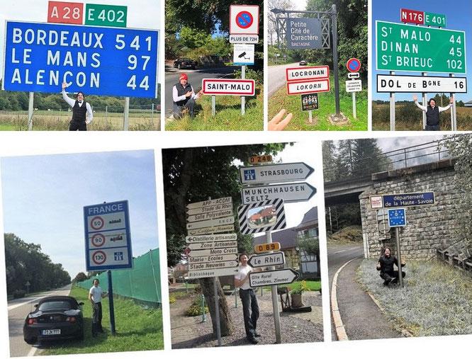 """Von Nancy nach Bordeaux und von Alencon nach St. Malo. Von Dinan nach St. Brieuc und von Guingamp nach Lorient sowie Quiberon."""""""