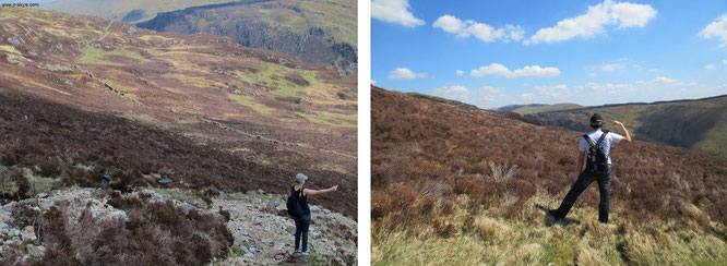 Herumkraxeln am langgezogenen Bergrücken von Cader Idris: Ein Highlight meiner aktuellen Wales-Reise...