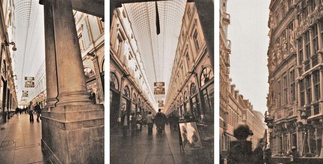 Einkaufspassage Galeries Royales Saint-Hubert (213 Meter, links und Mitte, eröffnet 1847)...
