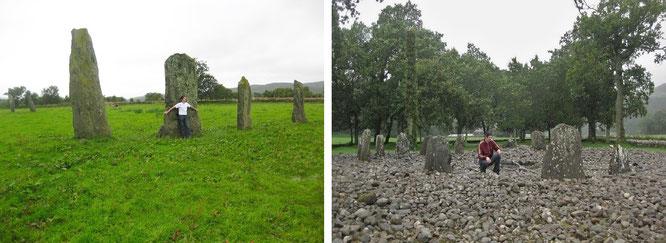 Das Arrangement erscheint nicht so spektakulär wie jenes der Standing Stones of Eightercua (Eightercua Stone Row) in Irland, dafür ist dieses Exemplar  eingebettet in ein riesiges Monumentenfeld: Standing Stones of Ballymeanoch (l.).