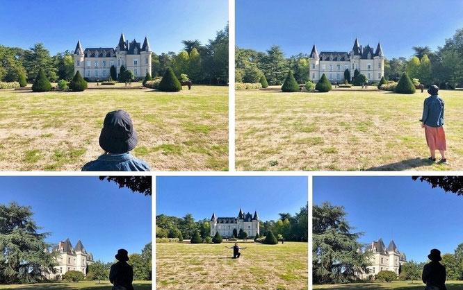 Die größten und kleinsten Châteaus: von Château des Tesnieres (Département Ille-et-Vilaine) nach Blois (Château de Chambord, 47° 36′ 57.5″ N, 1° 31′ 2″ E )...