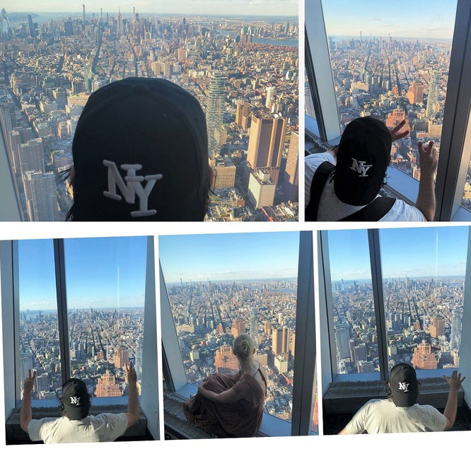 Mein Beobachtungspunkt (Blickrichtung Nord): One World Trade Center, 285 Fulton St, New York, NY 10007...