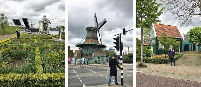 Die Niederlande fällt durch ausgefallene Brücken-Konstruktionen und Miniatur-Häuser auf - neben einem Überangebot an Windmühlen...