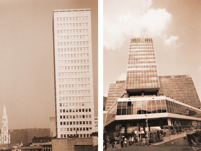 Rathaus (Hôtel de Ville/Het Stadhuis, l.) & Europaviertel, Brüssel...