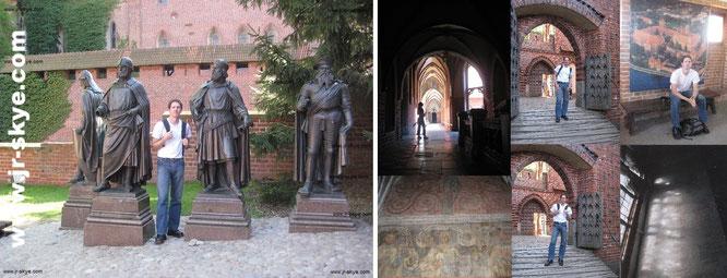 """Statues of the Grand Masters of Teutonic Order"" - Malbork (Marienburg), Ostpreußen/Pommern, Polen (54° 2′ 32″ N, 19° 1′ 54″ O) ..."