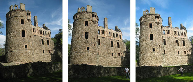 "Huntly Castle (57° 27′ 17.57″ N, 2° 46′ 52.21″ W). ""Anybody can destroy your sand castle. Make castle in (the) sky, so nothing can even reach it."" Saad Wakeel"