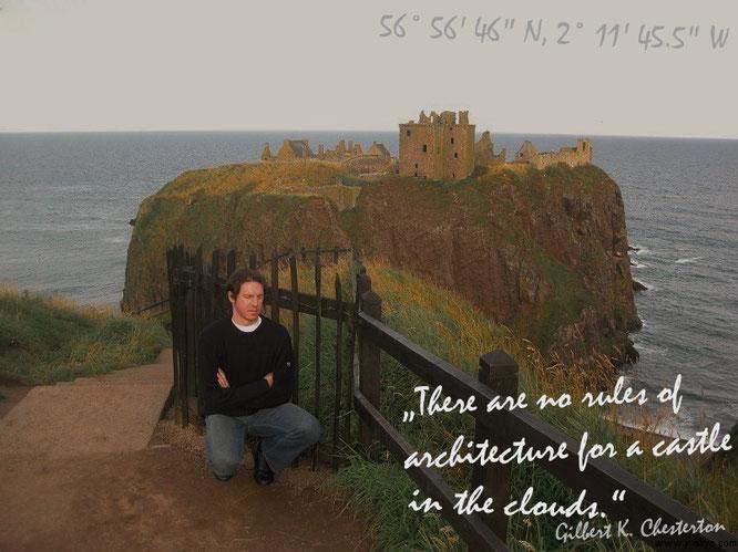 Kein Luftschloß! Welch´ phantastische Idee, auf diesem Gelände ein Castle zu plazieren: Dunnottar Castle, Stonehaven/Aberdeenshire, Schottland