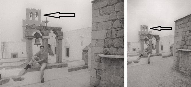 Johanneskloster (Monastery of Saint John the Divine/Monastery of Saint John the Theologian), Patmos (37° 18′ 33.08″ N, 26° 32′ 52.99″ E)...