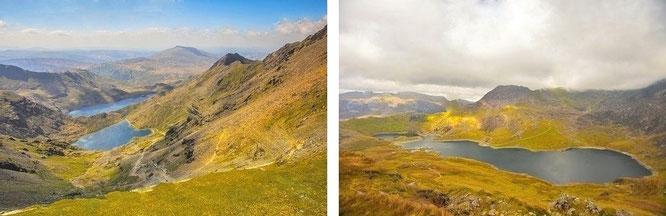 Am Fuße des Snowdon: Llyn Llydaw (53° 4′ 7″ N, 4° 2′ 50″ W)...