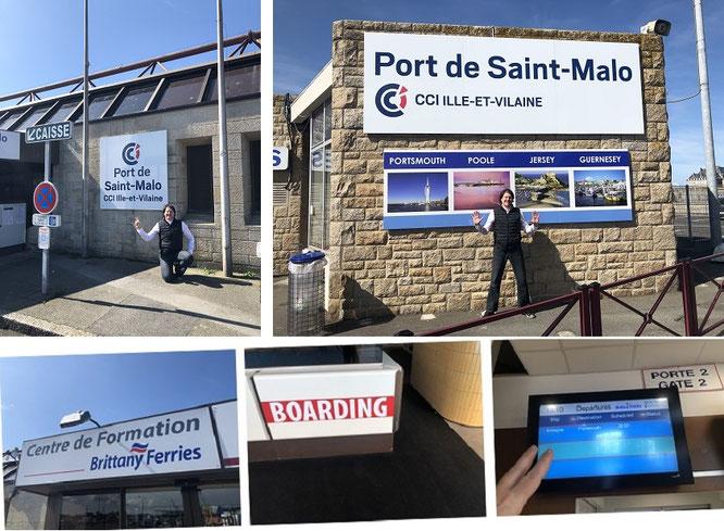 Anreise über sämtliche Kanäle: Wasser (per Fähre, hier von Saint Malo/Frankreich nach Portsmouth & Jersey), Land (Eurotunnel) oder Luft (Heathrow)...