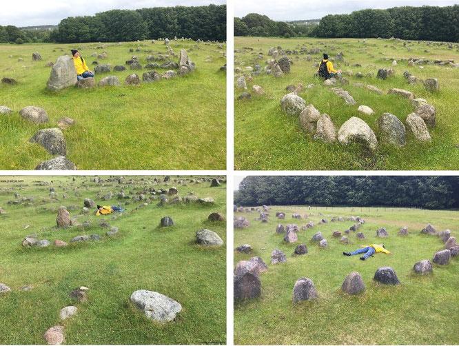 682 Einzelgräber (davon 150 als Schiffsformationen) aus der Zeit 400 bis 1.100 n.Chr.! Lindholm Höje, Aalborg (57° 4′ 38.3″ N, 9° 54′ 42.95″ E)...