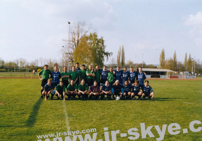 """I organized a little football match against a club from the ""Bezirksliga Unterfranken"", about 50 km south of Frankfurt (my football B-Team, 1:1). The very strong A-Team won against the B-Team of a ""Kreisliga"" Club, 60 km east of Frankfurt 12:2!"