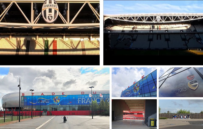 Juventus Stadium, Turin/Torino, Italy & Stade du Hainaut, Valenciennes Football Club, France (50° 20′ 53″ N, 3° 31′ 59″ E)...