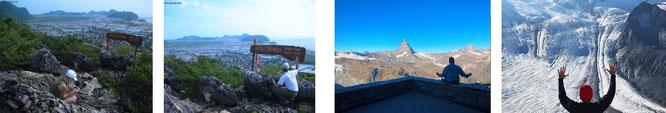 Khao Sam Roi Yot, Prachuap Khiri Khan, TH &  Matterhorn/CH und Mont Blanc/F. Außerdem u.a.: Great Dividing Range, Western Ghats, Sierra Madre Occidental, Atlas Mountains, Drakensberg, Kilimadscharo, Annamite Range...