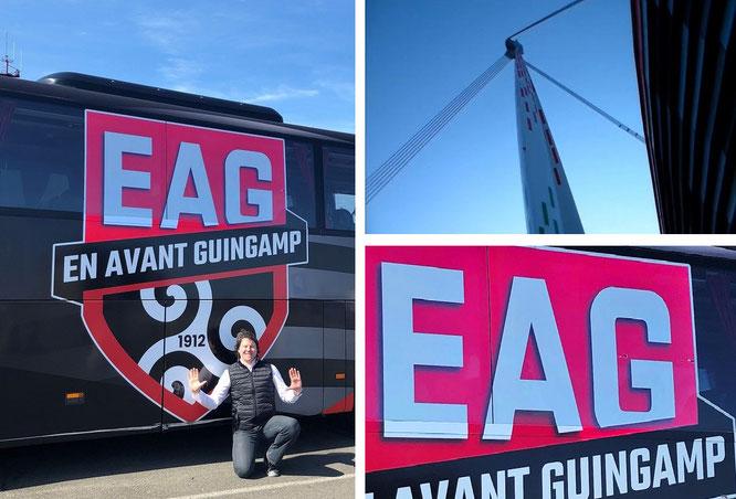 I'm a guest to EA Guingamp (Département Côtes d'Armor, Brittany, France - 48° 33′ 57.81″ N, 3° 9′ 52.17″ W)...
