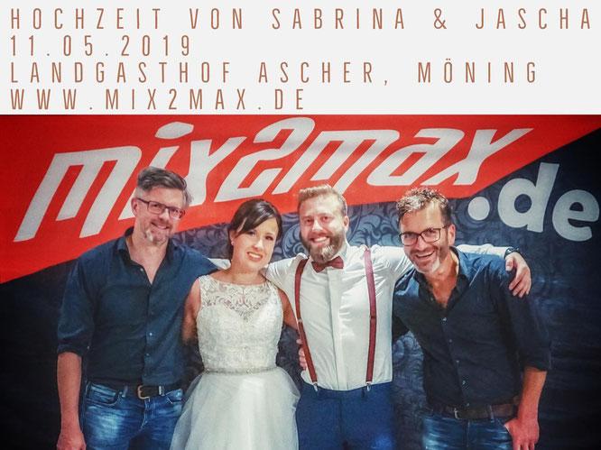 Hochzeitsband mix2max in der Oberpfalz.