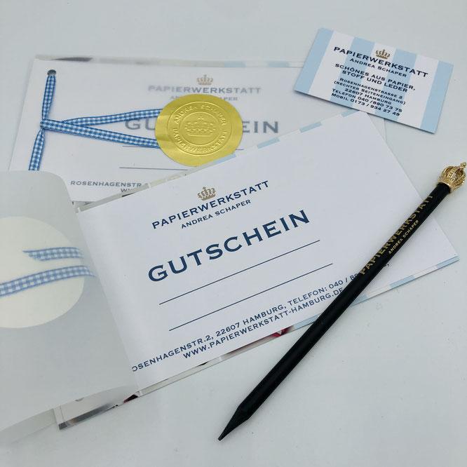 Support your local - Gutschein,Geschenkidee, Buchbinden, Buchbindekurse, Buchbinderkurse, Buchbinden Hamburg, Buchbinden lernen