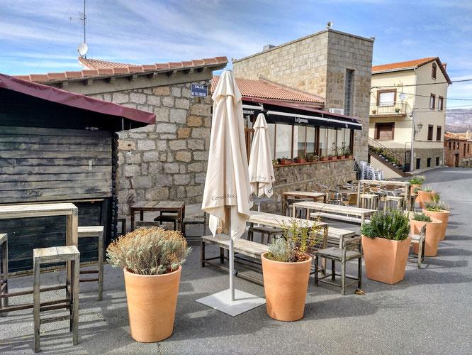 Restaurant Querencia an der Rückseite des Rathauses