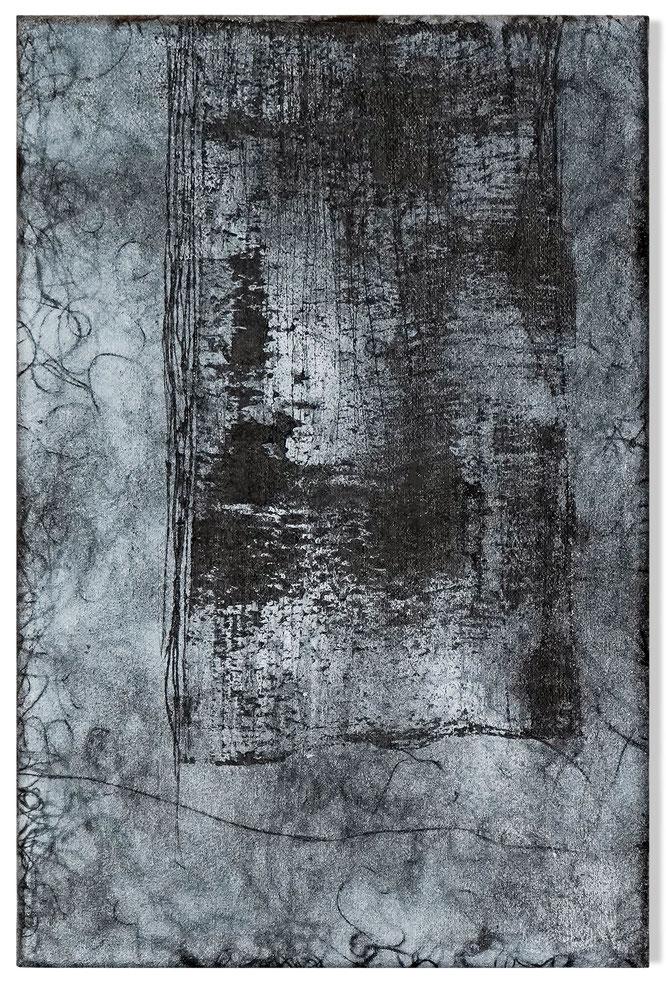 Katharina Lehmann, Breeze no.1, 30 x 20 cm / 12 x 8 in, 2019 · Acrylic, pencil on canvas