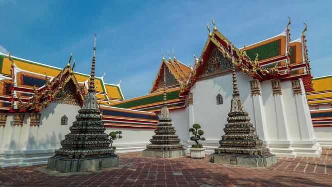 Wat Pho mit seinen Chedis