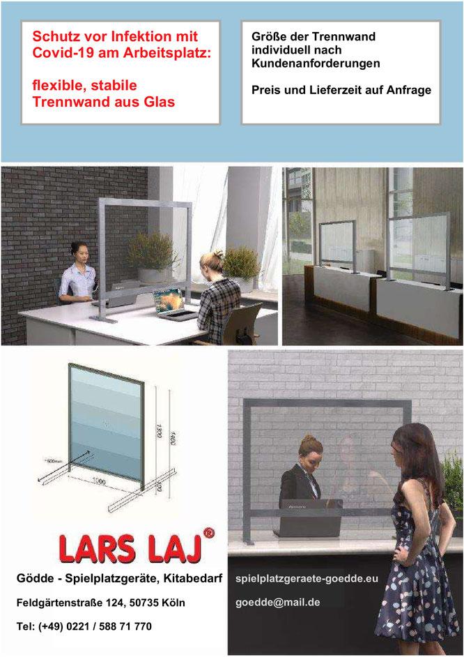 Trennwände zum Infektionsschutz von Lars Laj