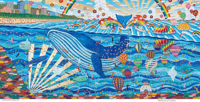 幅3.6メートルの大作『Whale tale』2017