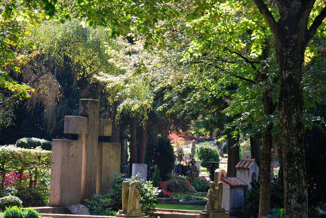 Bild: Hauptfriedhof Ravensburg Denkmalschutz Naturschutz